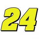 """4"""" Jeff Gordon Number 24 Vinyl Window Decal Sticker"""