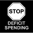 "6"" Anti Stop Deficit Spending Vinyl Decal Window Sticker"