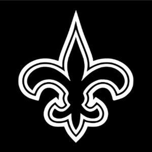 """12"""" New Orleans Saints Flur De Lis Vinyl Decal Window Sticker for Who Dat Fans S-02"""