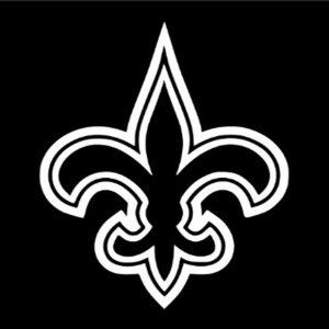"6"" New Orleans Saints Flur De Lis Vinyl Decal Window Sticker for Who Dat Fans S-02"