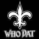 "16"" New Orleans Saints Who Dat Flur De Lis Vinyl Decal Window Sticker for Who Dat Fans WD-01"