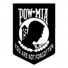 "6"" POW MIA You Are Not Forgotten Vinyl Decal Window Sticker"