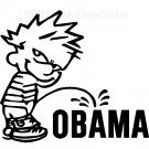 "6"" Calvin Pee Piss on Obama Vinyl Decal Window Sticker (Pack of 15)"