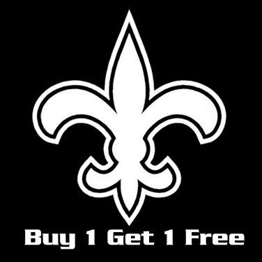 "3"" (Buy 1 Get 1 Free) New Orleans Saints Flur De Lis Vinyl Decals Window Stickers Who Dat  S-01"