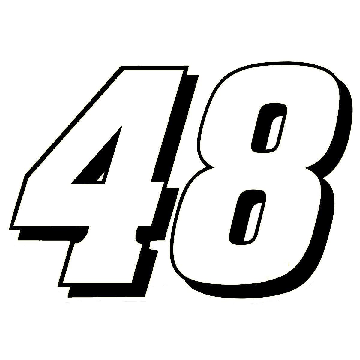 "4"" Jimmie Johnson 48 Nacsar Vinyl Window Decal Sticker"