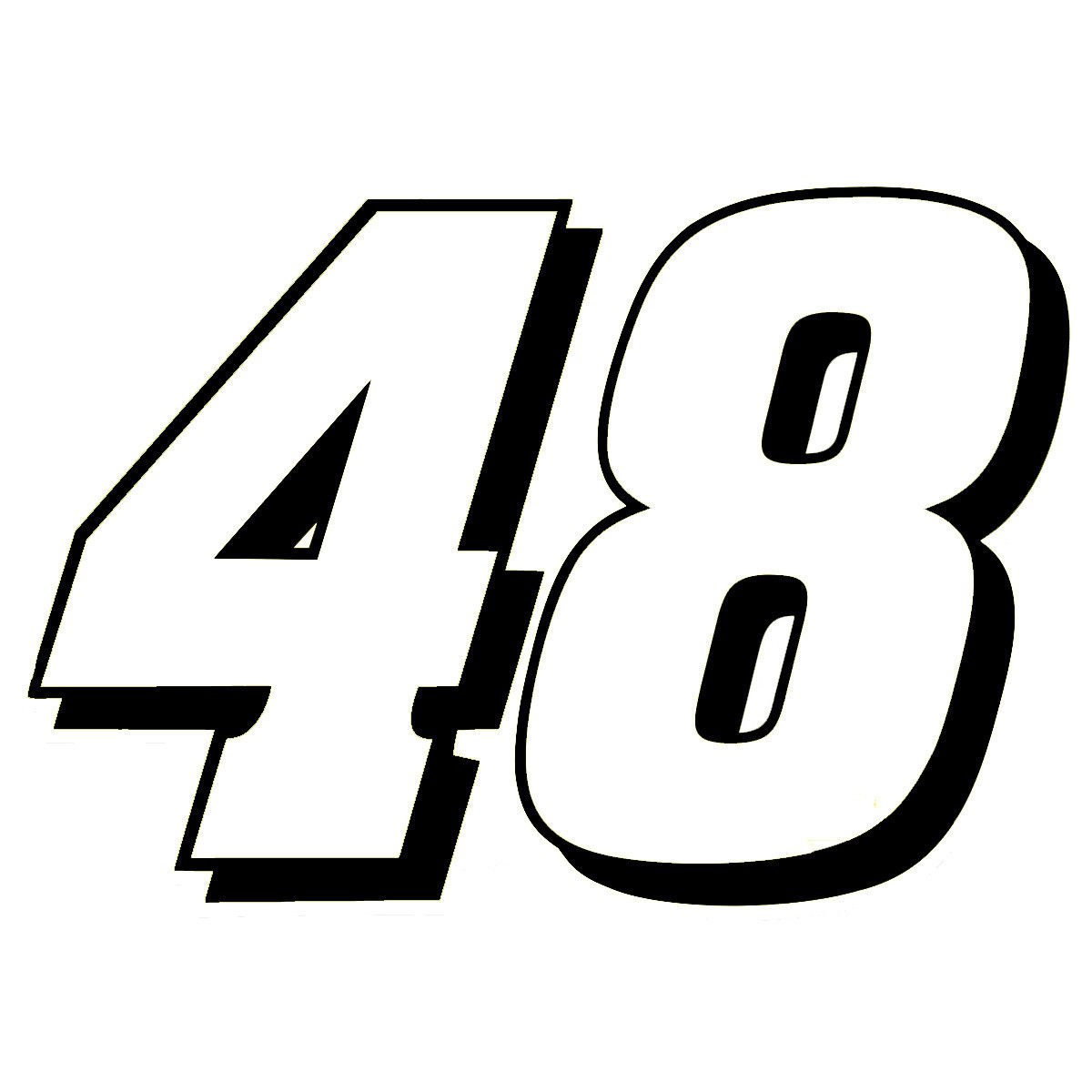 "8"" Jimmie Johnson 48 Window Decal Sticker 48jj-2c8"