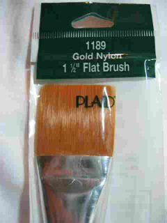 "Donna Dewberry One Stroke 1189 1 1/2"" Flat Brush Plaid"