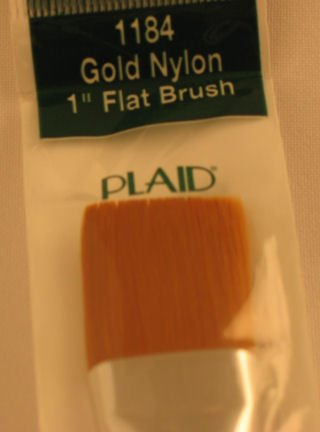 "Donna Dewberry One Stroke 1184 1"" Flat Brush Plaid"