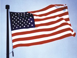 US flag 4 x 6' sewn  nylon US flag THE Flag Company