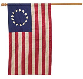 Vintage Betsy Ross Colonial  cotton American flag banner THE Flag Company