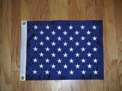 "US Union Jack US Naval flag 17 x 20"" THE Flag Company"
