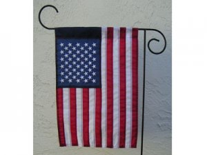 "American flag nylon US Garden flag 12 x 18"" Sewn July 4th flag"