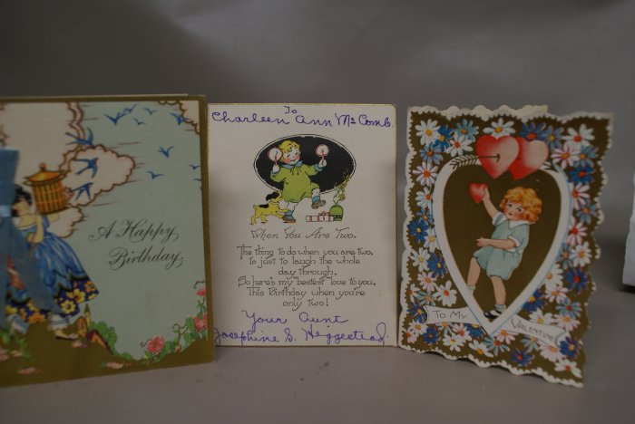 3 Victorian Greeting Cards