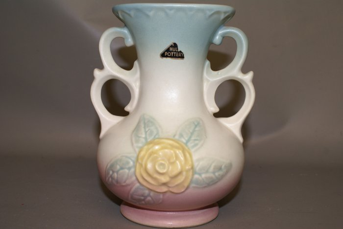 "Hull Art Pottery 6.5"" Vase WITH STICKER!"