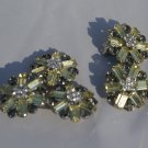 Vintage Art Deco Rhinestone Brooch & Earrings c1925
