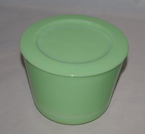 McKee Antique Jadite Covered Jar