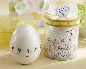 About To Hatch - Kitchen Egg Timer Baby Shower Favor (set of 4)