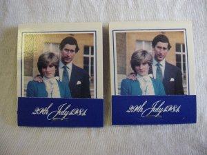 2 Princess Diana Prince Charles Royal Wedding Souvenir Match Books