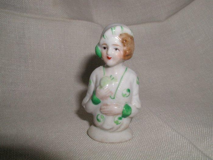 Occupied Japan Boudior Doll Pin Cushion Flapper