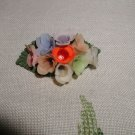 Vintage Celluloid Floral Pin Brooch