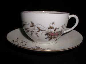 Antique Limoges Tressemanes and Vogt Marguerite  Cup and Saucer
