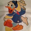 """Vintage Disney Dennison 10"""" Donald Duck Die Cut Cardboard Decoration 60s"""