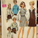 VTG SIMPLICITY #8408 SEWING PATTERN 1969 JUMPER BLOUSE SIZE 38 COMP UNCUT FACTORY FOLDED