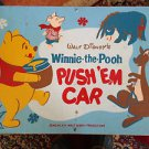 Vintage 1964 Walt Disney's Winnie the Pooh Push 'Em Car Child's Toy Box Cart