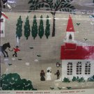 Vintage Linen New Unused Kay Dee Tea Kitchen Towel Quaint Country Scene
