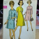 Simplicity Vintage Pattern #8692 New Unused, Factory Folded Size 18 Bust 40, Dress and Jacket