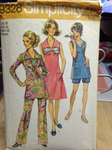 Simplicity Vintage Pattern #8698 New Unused, Factory Folded Size 40 Bust 44, Pantsuit