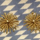 Bergere Starburst Spray Clip Earrings Vintage