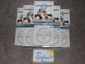 Mario Kart Wii Game w/ 2 Nintendo Wheels