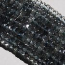 Czech glass 2-tone Gray Green fire-polished 8x4mm Faceted Rondelle 16-inch Strand Qty 1