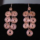 Jewelry TUTORIAL Wire Wrapping Egyptian Coils Dangle Earrings Macedonian Spirals DIY How To