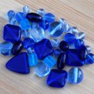 Cobalt Sapphire Blue Czech Glass Beads Mix Assorted Shapes