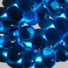 Cobalt Blue Glass Drop Beads Qty 5