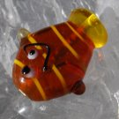 Whimsical Fish Lampwork Glass Beads 15x20mm Qty 3