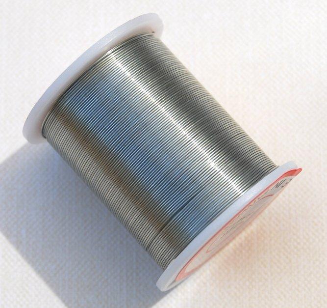 Silver Colored Beading Wire 28ga 28 guage