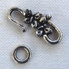 One Silver-Plated Butterfly S-Hook Clasp 25mm Qty 1