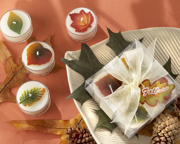 """""""Fall in Love"""" Tealight Candles (Set of 4)"""
