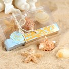 'Seaside' Beach Candles in Coral Design Gift Box