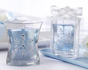 Snowflake Gel Candle