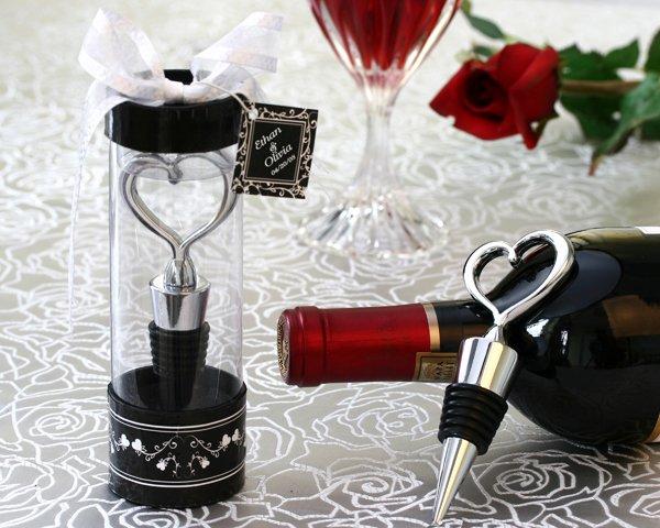 Sterling Heart Bottle Stopper in Tall Showcase Display Box