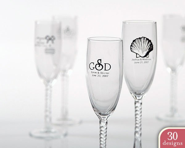 Personalized Champagne Flute Choose from Many Designs