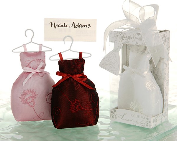 """Oh Couture!"" Scented Gown Sachet and Placecard Holder (Set of 4)"