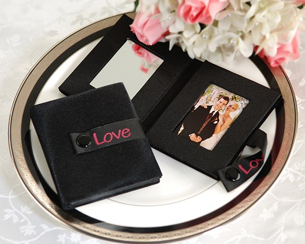 """""""Reflections of Love"""" - Compact Velveteen Mirror & Photo Frame"""