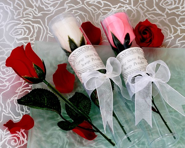 Long-Stemmed Rose Soap in Showcase Gift Box