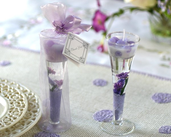 Garden Glass Gel Candle - Lavender