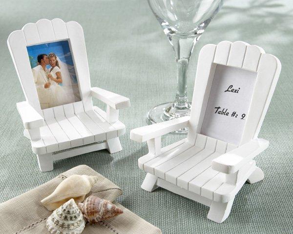 """""""Beach Memories""""  Miniature Adirondack Chair Place Card/Photo Frame"""